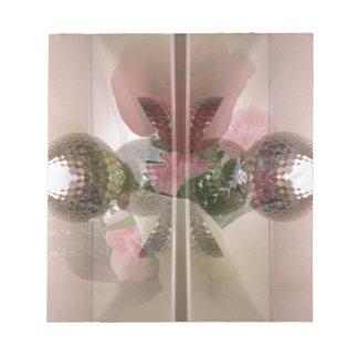 シャンペンのピンクの二重露光の上品でガーリーなデザイン ノートパッド