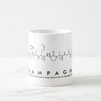 シャンペンのペプチッド名前のマグ コーヒーマグカップ