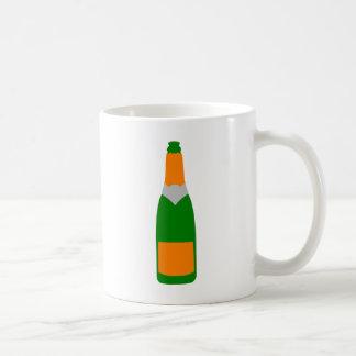シャンペンのボトル コーヒーマグカップ