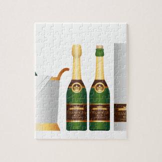 シャンペンのボトル ジグソーパズル