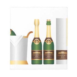 シャンペンのボトル ノートパッド