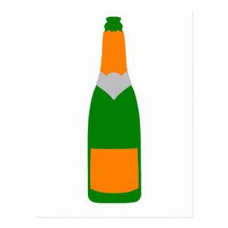 シャンペンのボトル ポストカード