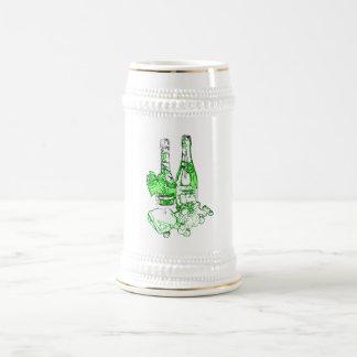 シャンペンのモダンな芸術 ビールジョッキ