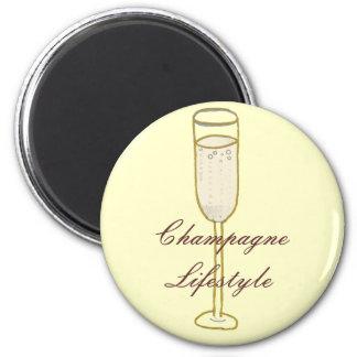 シャンペンのライフスタイル マグネット
