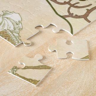 シャンペンの女の子のアルフォンス島のミュシャ ジグソーパズル