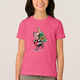 シャンペンの女の子のTシャツの巨大なボトル Tシャツ