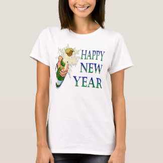 シャンペンの新年 Tシャツ