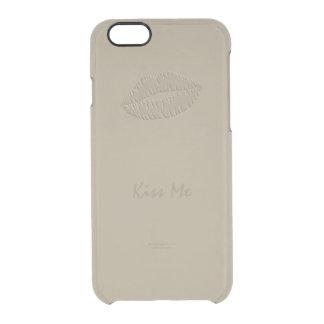 シャンペンの金ゴールドの口紅のキスのiPhone 6/6sの場合 クリアiPhone 6/6Sケース