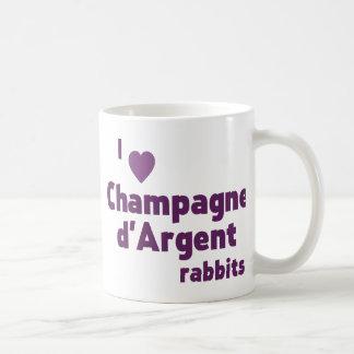シャンペンのd'Argentウサギ コーヒーマグカップ