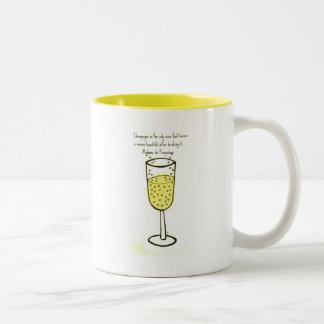 シャンペンはジルによって唯一のワインの…プリント行います ツートーンマグカップ