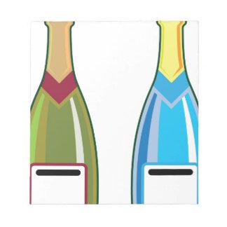 シャンペンはベクトルをびん詰めにします ノートパッド