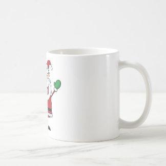 シャンペンを飲んでいるサンタクロース コーヒーマグカップ