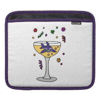 シャンペンガラスのおもしろいな鮫 iPadスリーブ