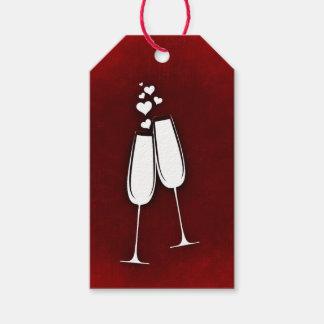 シャンペンガラスのギフトのラベル ギフトタグ