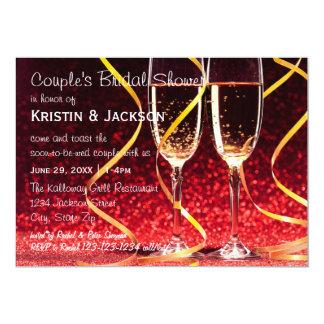 シャンペンガラスの写真-ブライダルシャワー カード