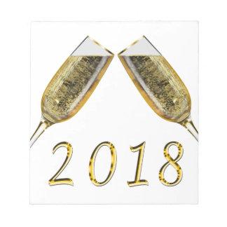 シャンペンガラス2018年 ノートパッド