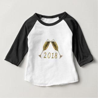 シャンペンガラス2018年 ベビーTシャツ