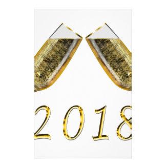 シャンペンガラス2018年 便箋