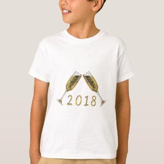 シャンペンガラス2018年 Tシャツ