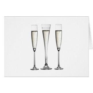 シャンペンガラス カード