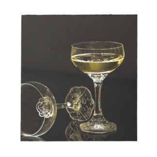 シャンペンガラス ノートパッド