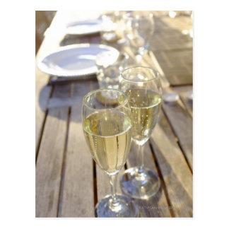 シャンペンガラス ポストカード