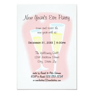 シャンペンガラス- 3x5大晦日のパーティ カード