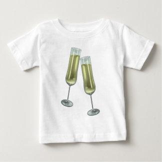 シャンペンフルートのカップル ベビーTシャツ