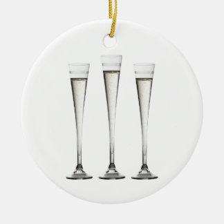 シャンペンフルート セラミックオーナメント