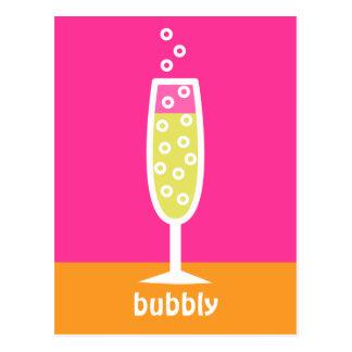 シャンペンフルート-ピンク ポストカード