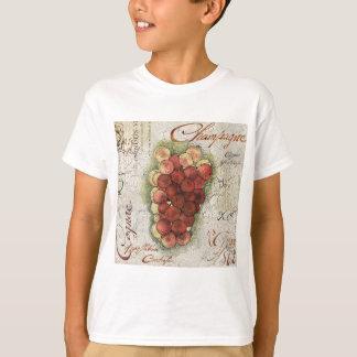 シャンペン及びコニャックのブドウ Tシャツ