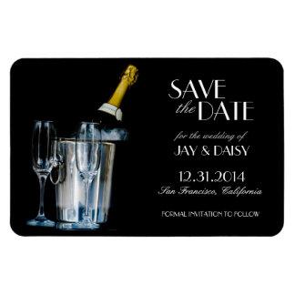シャンペン大晦日のフォーマルな保存日付 マグネット