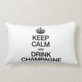 シャンペン穏やか、飲み物保って下さい ランバークッション