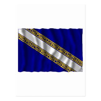 シャンペンArdenneの振る旗 ポストカード