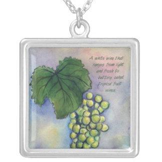 シャードネーワインのブドウ酒用ブドウの銀製のネックレス シルバープレートネックレス