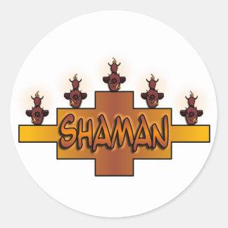 シャーマンのステッカー ラウンドシール