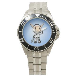 シャーマンアラスカ牛青い腕時計 腕時計