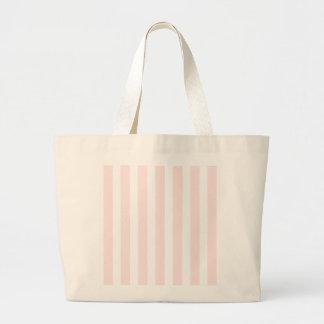 シャーロットのピンクおよび白のストライプの明るいピンク ラージトートバッグ
