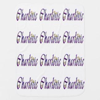 シャーロットの筆記体の一流のロゴ、Babysのフリースブランケット ベビー ブランケット