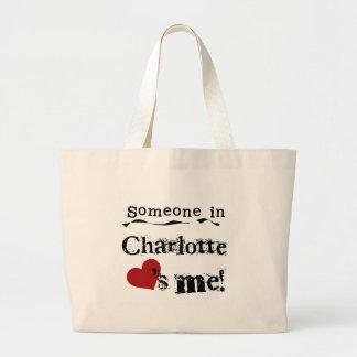 シャーロットの誰か ラージトートバッグ