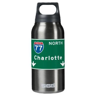シャーロットのNCの交通標識 断熱ウォーターボトル