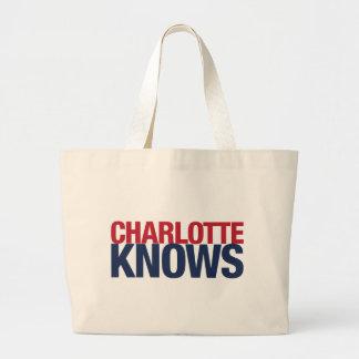 シャーロットは知っています ラージトートバッグ