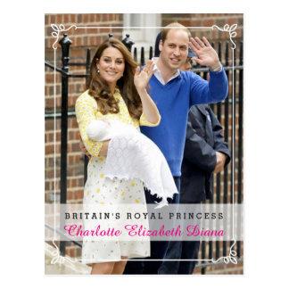 シャーロットエリザベスダイアナ-イギリスの王室のなプリンセス ポストカード