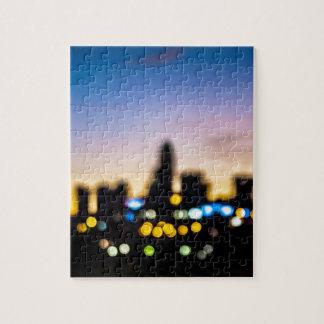 シャーロットノースカロライナの夕べにわたる日没 ジグソーパズル