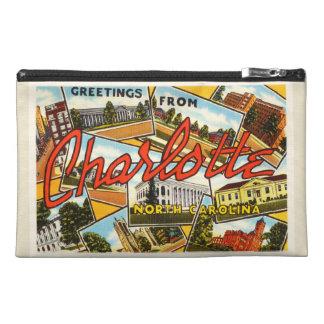 シャーロットノースカロライナNCの古いヴィンテージの郵便はがき トラベルアクセサリーバッグ