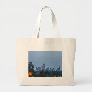 シャーロット都市スカイライン ラージトートバッグ