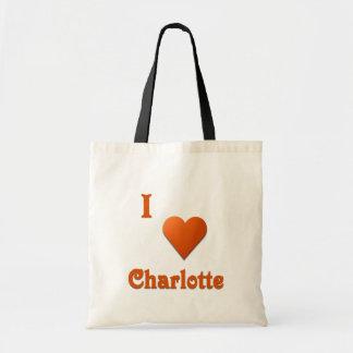 シャーロット -- 燃やされたオレンジ トートバッグ
