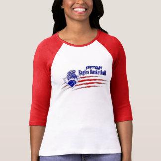 シュトゥットガルトイーグルスは爪の女性3/4袖Tを恐れています Tシャツ
