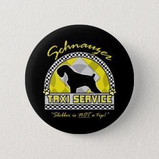 シュナウツァーのタクシーサービス 5.7CM 丸型バッジ