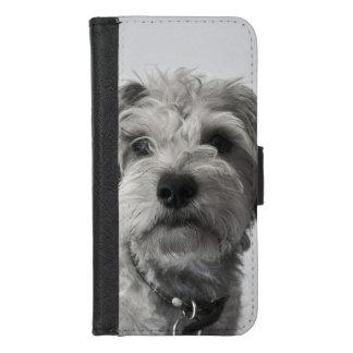 シュナウツァーの子犬のポートレートの写真 iPhone 8/7 ウォレットケース